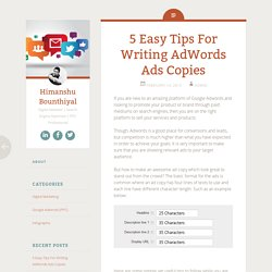 5 Easy Tips For Writing AdWords Ads Copies