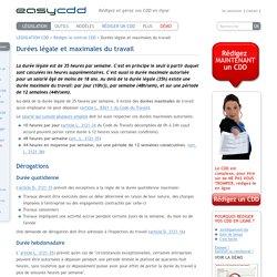 easyCDD: Durées légale et maximales du travail