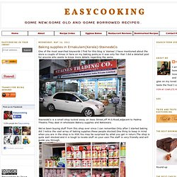 Easycooking: Baking supplies in Ernakulam(Kerala)-Staines&Co