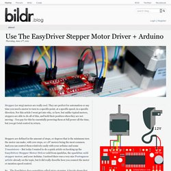 Use The EasyDriver Stepper Motor Driver