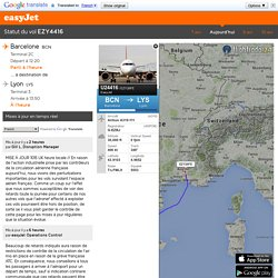 Vol easyJet 4416 de Barcelone à destination de Lyon