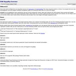 Easymap - Einfache OSM-Karte erstellen