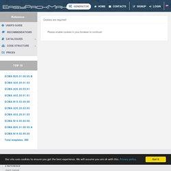 Model parameters: ECMA A99.99.03.03