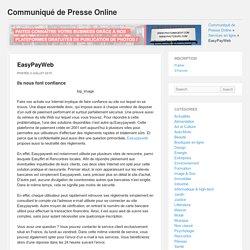 Communiqué de Presse Online