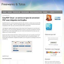 un service en ligne de conversion PDF avec intégration de DropBox