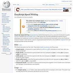 EasyScript Speed Writing