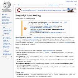 EasyScript Speed Writing