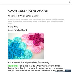 Wool Eater Instructions