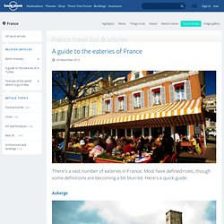 A guide to the eateries of France
