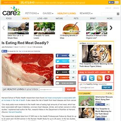 Is Eating Red Meat Deadly?