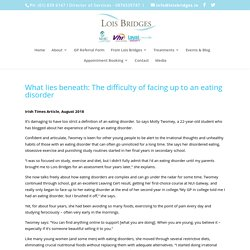 What lies beneath: The difficulty of facing up to an eating disorder