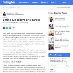 Eating Disorders and Stress