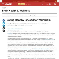 Eating Healthy Is Good for Your Brain