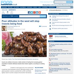 Eating insects won't take off in the west