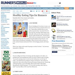 Eating Tips for Runners