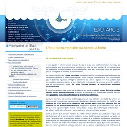 L'eau biocompatible ou bonne à boire