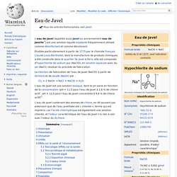 WIKIPEDIA - eau de javel
