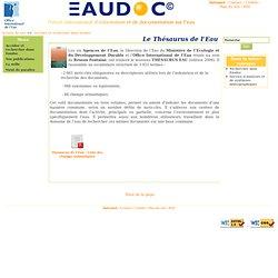 Eaudoc - OIEau - Le Thésaurus de l'Eau