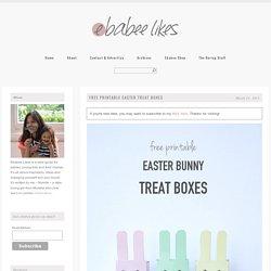 ebabee likes:Free printable Easter boxes