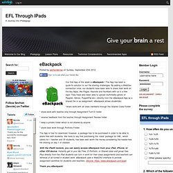 eBackpack : EFL Through iPads