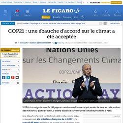 COP21 : une ébauche d'accord sur le climat a été acceptée