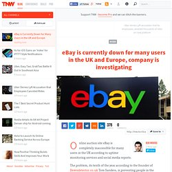 eBay is Currently Down for Many Users in the UK and Europe