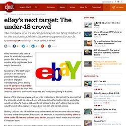 eBay's next target: The under-18 crowd