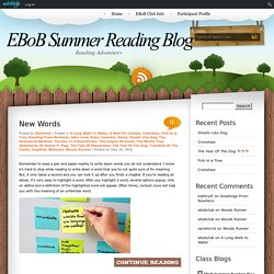 EBoB Summer Reading Blog » Welcome