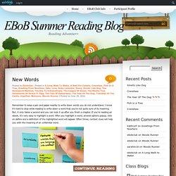 EBoB Summer Reading Blog » Welcome