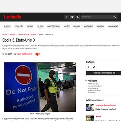 Ebola 3, États-Unis 0