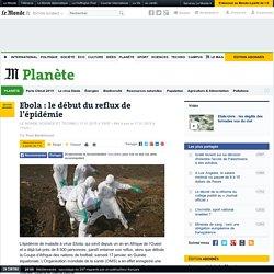 Ebola: le début du reflux de l'épidémie