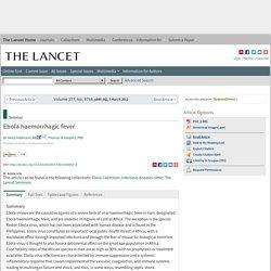 Ebola haemorrhagic fever - The Lancet