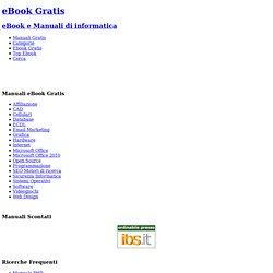 eBook Gratis di manuali e guide