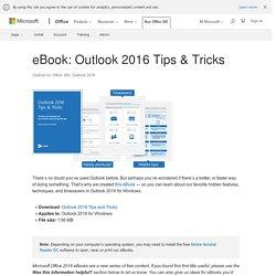 eBook: Outlook 2016 Tips & Tricks - Outlook