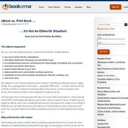 eBook vs. Print Book ... - Bookarma Blog