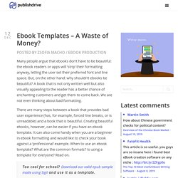 Ebook Templates - A Waste of Money?