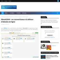 un convertisseur et éditeur d'ebooks en ligne