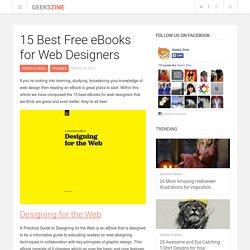 15 Best Free eBooks for Web Designers - Geeks ZineGeeks Zine