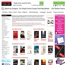 eBooks from Foyles – over 380,000 to choose from
