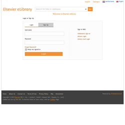 Elsevier ELibrary