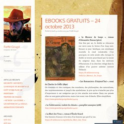 EBOOKS GRATUITS – 24 octobre 2013