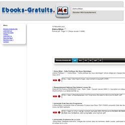 Ebooks-Gratuits.Me > Zohra Bitan.pdf : 15 Résultats 1/1