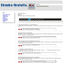 Ebooks-Gratuits.Me > Boot Ip.pdf : 223000 Résultats 1/20