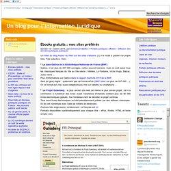 Ebooks gratuits : mes sites préférés