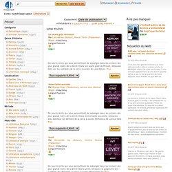 Ebooks avec le mot-clé Littérature