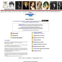 140,000 Free eBooks: SEARCH OPTIONS (165,000+ eBooks, eTexts, On-Line Books, eDocuments)