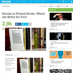 Ebooks or Printed Books: Which Are Better for You?