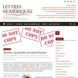 Ebooks: la question du droit d'auteur