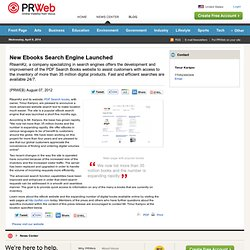 New Ebooks Search Engine Launched