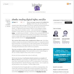 ebooks: trading digital rights, not files